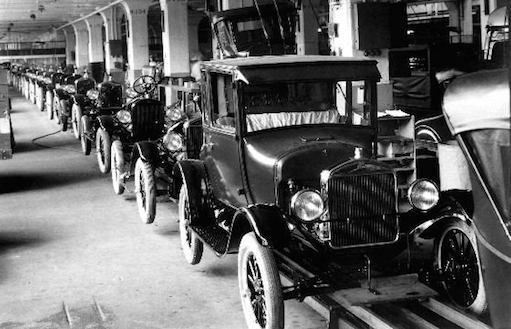 Конвеер Форда - жизненные пример работы с массивом машин в цикле