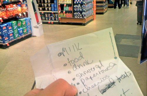 Список покупок в магазине