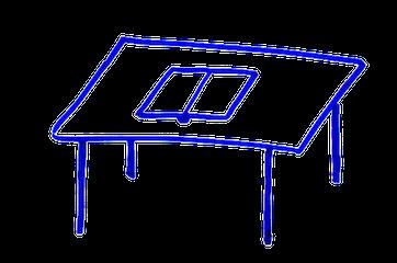 Стол с открытой книгой