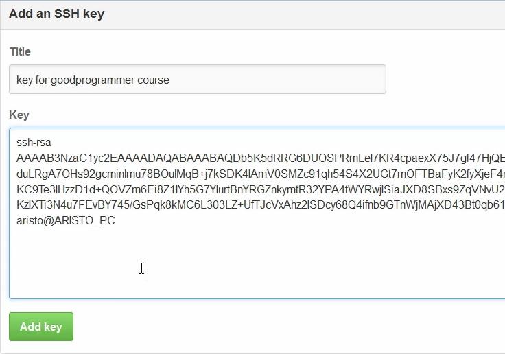 Добавляем ssh-ключи на github