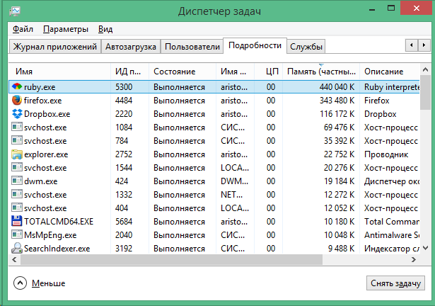 "Программа ""Медведь"" на Windows 8"