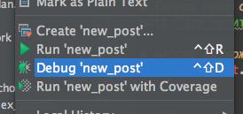 Кнопка Debug в RubyMine